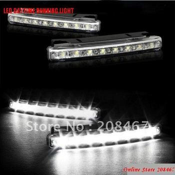 NEW ARRIVAL 5sets/lot 8 LED Daytime Running Light High quality auto led driving lamp Free Shipping