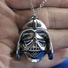 Star Wars Darth Vader s Helmet Pendant Charms Retro Silver Chain Necklace Jewelry