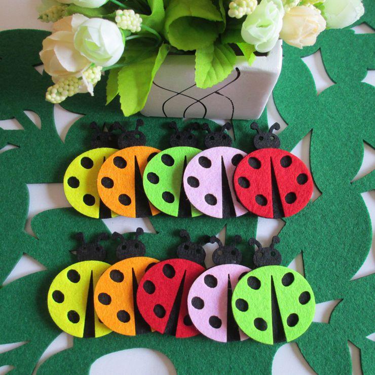 Baby Birthday Wall Decoration : Pcs one set ladybird wall door sticker children room