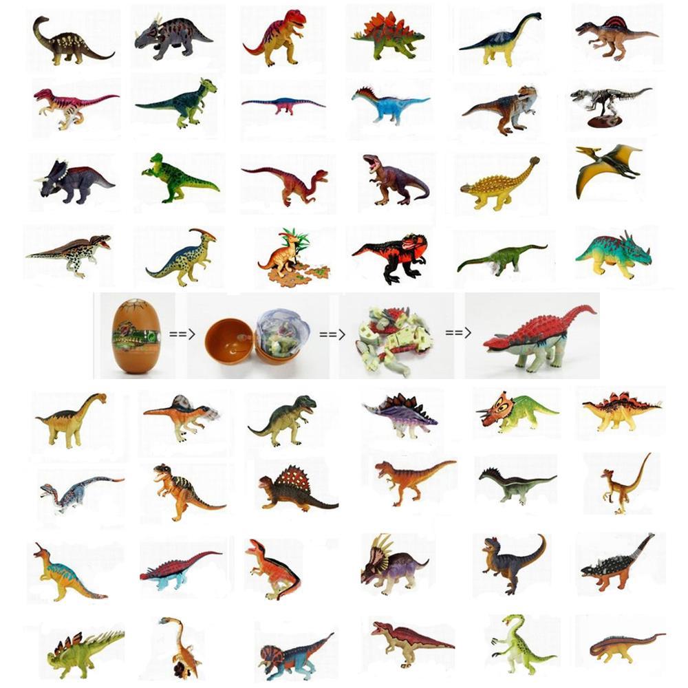 48pcs assorted 3D dinosaurs puzzle egg plastic diy educational toy building kits 3d puzzles<br><br>Aliexpress