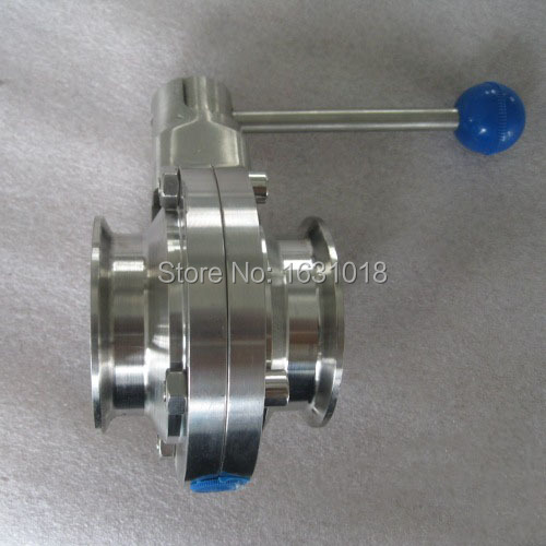Clamp sanitary butterfly valve stainless steel 1 1/2'' SS304 ISO standard dn40 manual clamped - Sunday Online Shop store