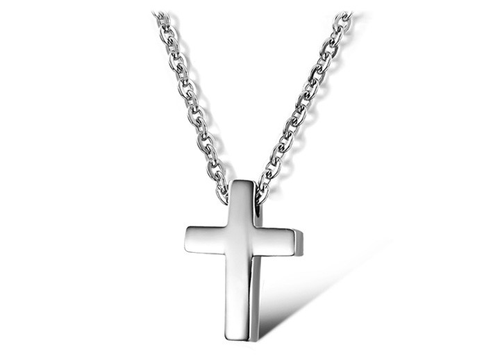 Women Lovely Cross titanium steel 316L Stainless Steel Pendant Necklace fashion vintage punk Girl jewelry necklaces & pendants(China (Mainland))