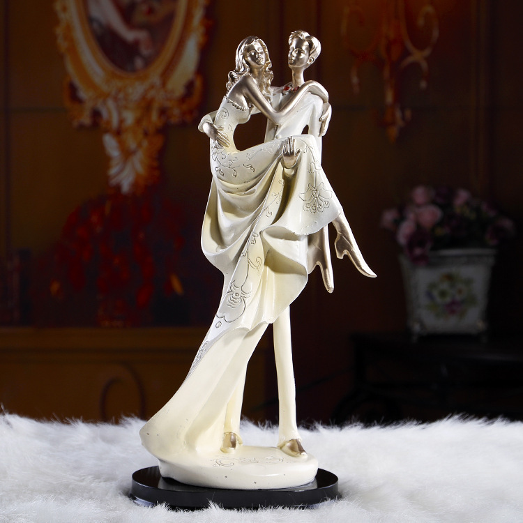 wedding cake topper couple romantic groom bride gift figurine resin