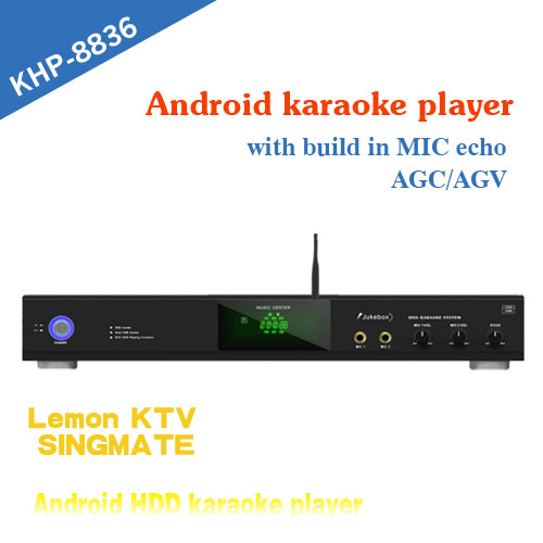 8836(#1) Android Hard drive karaoke machine with HDMI 1080P ,Support MKV/VOB/DAT/AVI/MPG songs ,build-in AGC/AVC(China (Mainland))
