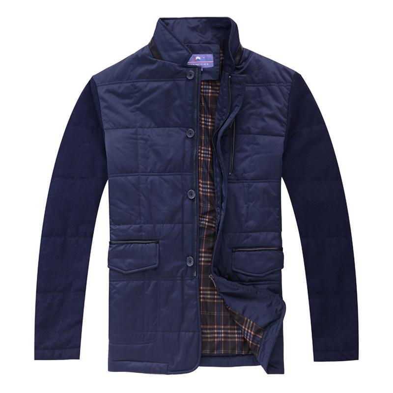 2015 new men patchwork jacket outdoor super warm slim parka coats fashion brand clothes men stand