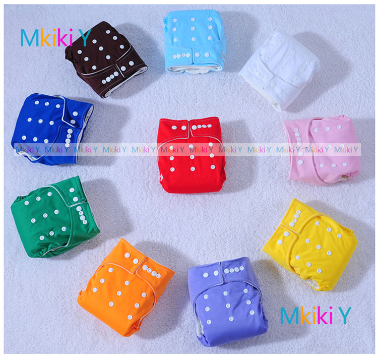 1One Size Reusable Baby Infant Washable Cloth Diapers Nappies 15 inserts - Mkiki Y store