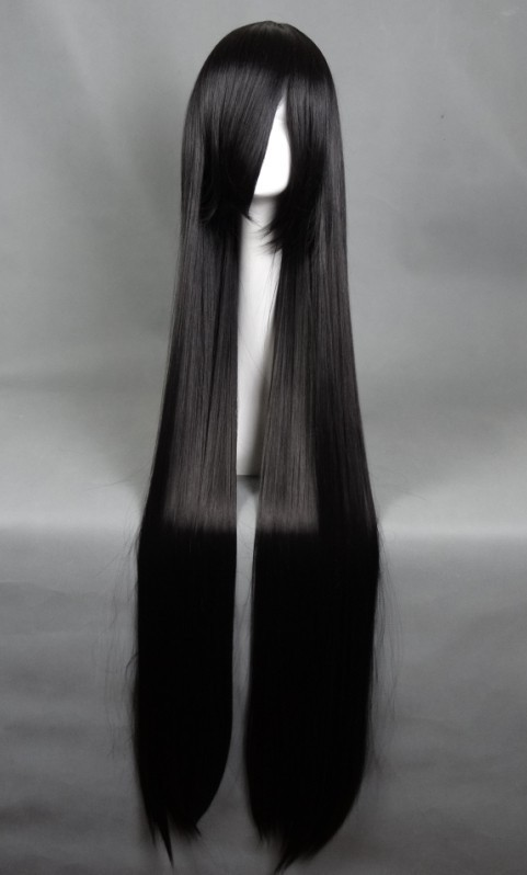 Гаджет  Cosplay Wig Anime Wig Black Long Straight Hair Wigs  Ancient Costume One Meter Straight Hair With Bangs Cosplay Synthetic Hair  None Волосы и аксессуары