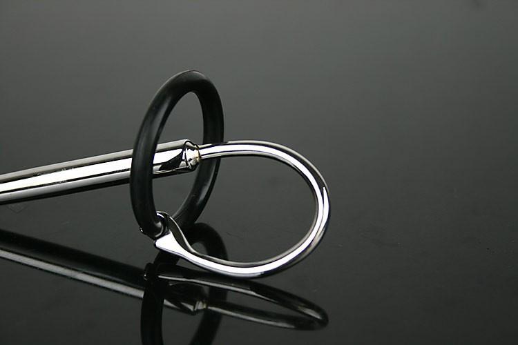 1 шт. звучание резиновый нержавеющей стали мужской расширитель зонда уретры плунжерных эротическая пенис зажигания секс игрушки для человека