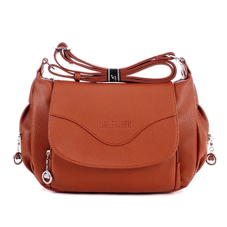 2015 Hot sell fashion women messenger bag casual cross by bag vintage business brief women handbag leather quality hobo bag(China (Mainland))