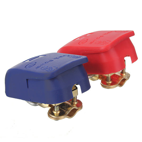 Pair Car Auto Caravan Boat Motorhome Quick Release Battery Terminals Clamps 12V Free shipping(China (Mainland))
