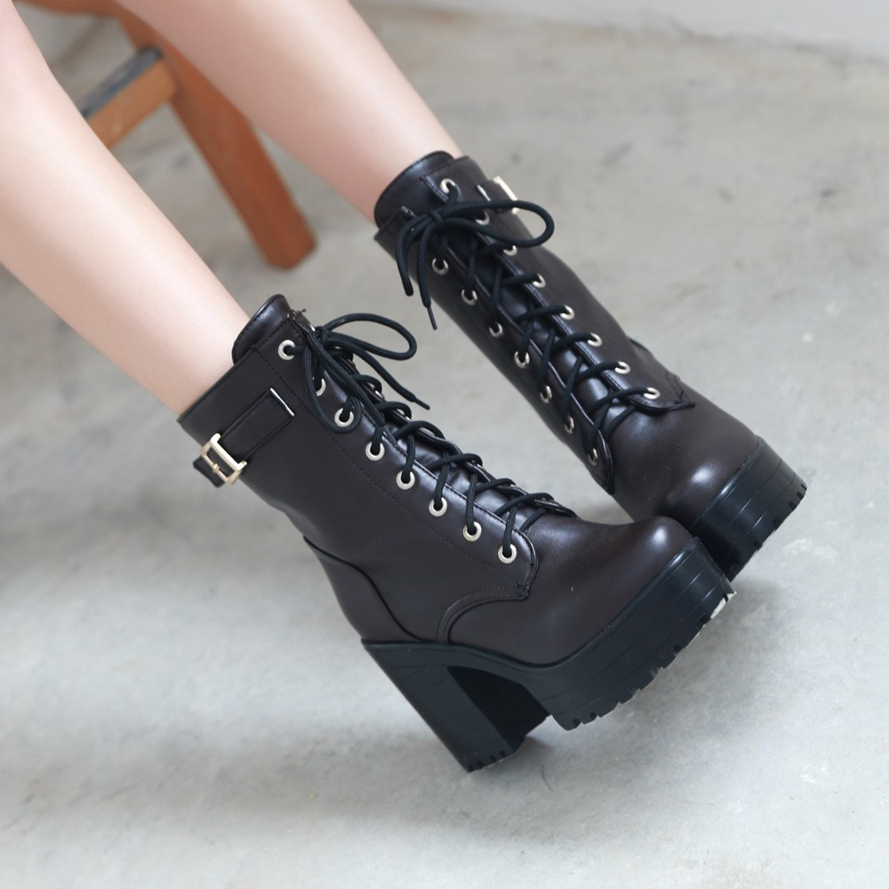 2015 autumn and winter boots big yards lace high-heeled boots 404142434445  33 yards women's boots Martin boots