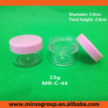 Free Shipping 100+2pcs 15ml 15g Plastic Cream Jars with lids, 15g Plastic Jars Empty Cosmetic Containers for Cosmetics Packaging