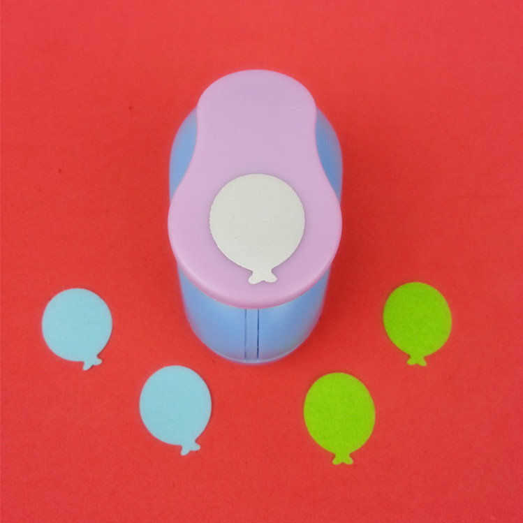 "Free Shipping 1""(2.5cm) balloon shape EVA foam punches paper punch for greeting card handmade DIY scrapbook craft punch machine(China (Mainland))"