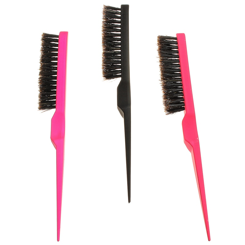New 1 Pcs Professional Hair Brushes Teasing Back Combing Hair Brush Slim Line Styling Tools Comb Random Color Best Price(China (Mainland))