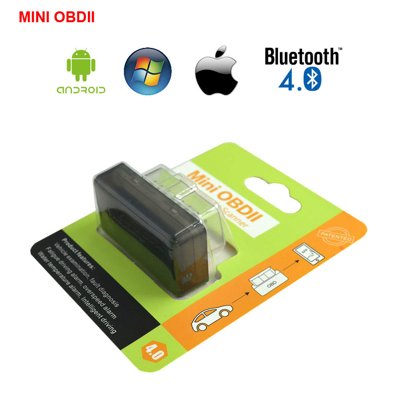 Latest Version mini obdii Mini ELM327 Auto Scanner ELM 327 Bluetooth V4.0 OBD2 for Android OBDII Car Vehicle Scan Free Shipping(China (Mainland))