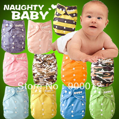 Free Shipping Adjustable Baby Infant Cloth Diaper Urine Nappies With Microfiber Inserts 11 Diaper Covers+ 15 microfiber Inserts<br><br>Aliexpress
