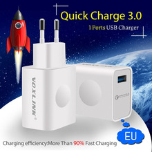 Buy Qualcomm Certified VOXLINK Quick Charge 3.0 18W USB Wall Fast Travel Charger w/Cable Samsung HTC Xiaomi QC2.0 Compatible for $12.21 in AliExpress store