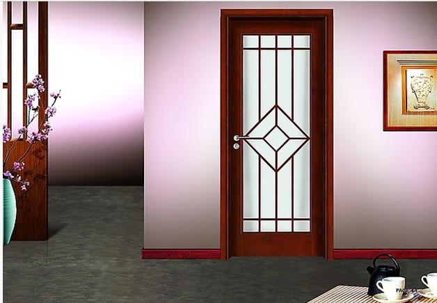 Iron steel security metal door in doors from home for Modelos de puertas de metal
