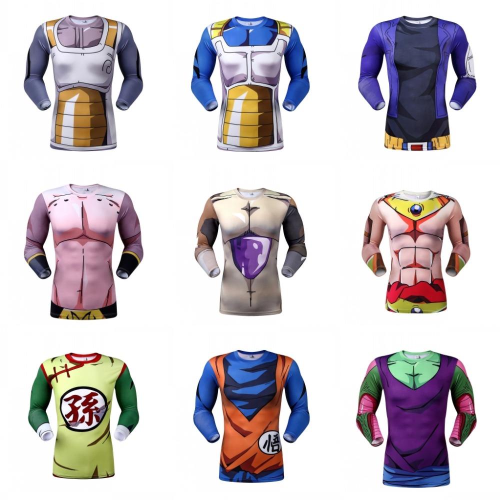 2016 Cute Kid Goku New 3D Long t shirts Women Men Casual tees Anime Dragon Ball Z Super Saiyan sport t shirts(China (Mainland))