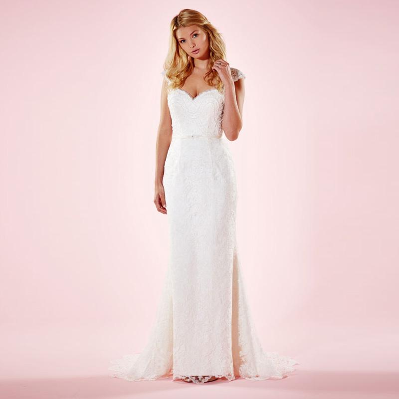 Чувственный вид кружева возлюбленной рукавом длиной до пола труба свадебные платья 2016 см . через назад люкс свадебные платья