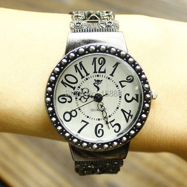 Russia Hollow-cut Tungsten Steel Adjustable Band Bracelet Watches Women Fashion Vintage Antique Watch orologio donna jam tangan(Hong Kong)