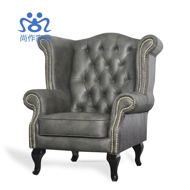 de haute qualit en cuir club chaises faire le vieux antique canap chaise fauteuil tigre. Black Bedroom Furniture Sets. Home Design Ideas
