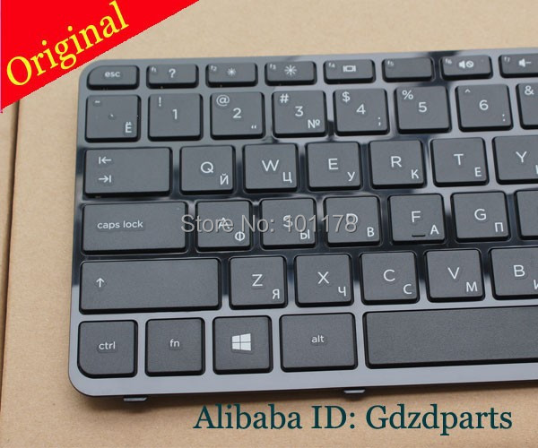 Russian Keyboard HP Pavilion 17 17-N 17-E R68 AER68U00110 AER68U00210 710407-001 725365-001 RU Black WITH FRAME - Laptop accessories store
