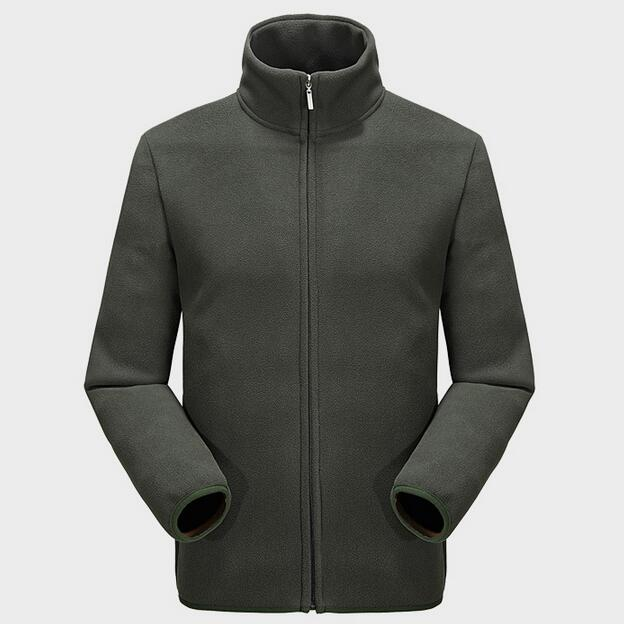 Fleece Jacket Mens Polar Fleece Jackets 2016 New Fashion Male Casual Jackets Stand Collar Free Shipping