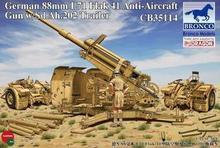Bronco model CB35114 1/35 German 88mm L71 Flak41 Anti-Aircraft Gun w/Sd.Ah.202 Trailer kit - Real toys store