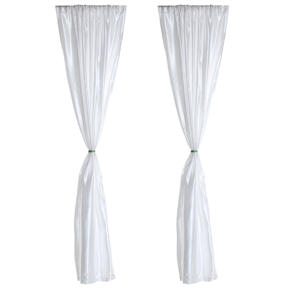 White window curtains - 2pcs Window Panel Drape Curtain Door Ider Home Decor White Curtain