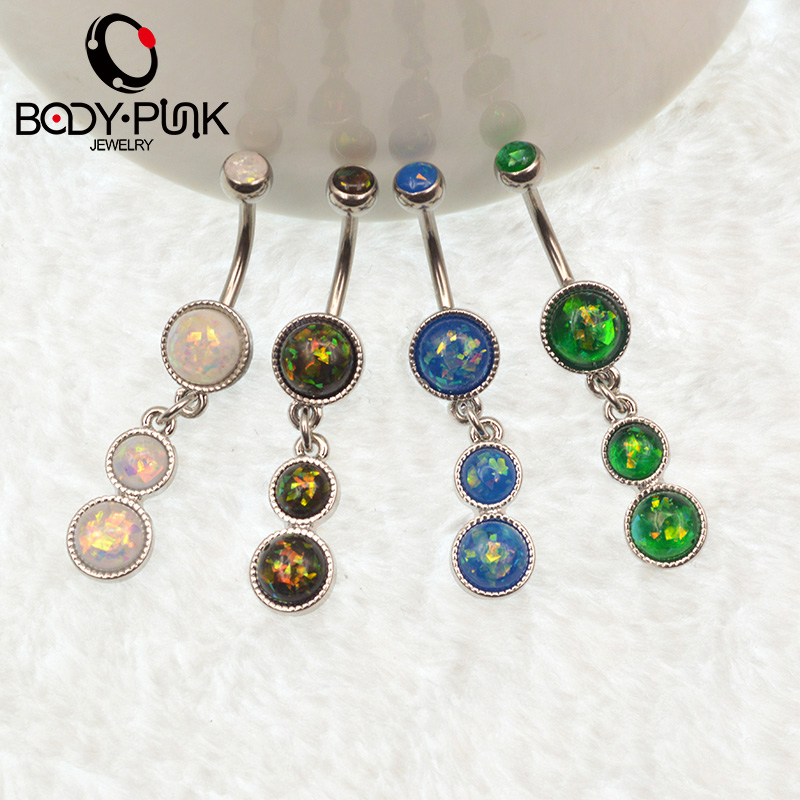 Buy belly button ring white green blue for Belly button jewelry store