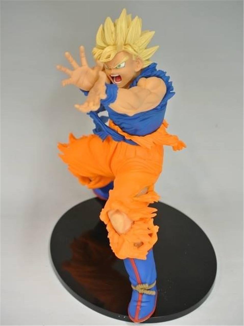 18CM Anime Dragon Ball Z Son GOKU Super Saiyan Action Figures crystal balls PVC Limit Boxed For Kids Collectible&Gift Toy 0373(China (Mainland))
