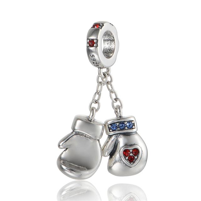 925 - серебристо-ювелирные бусины S352 по боксу комплект CZ шарм бусины Fit Chamilia пандора браслет серебро 925 ювелирных изделий DIY