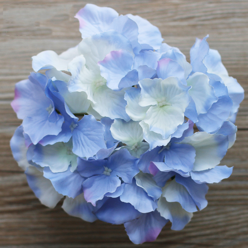 10pcs decorative artificial silk hydrangea heads Artificial flower decoration for home