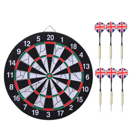Free Shipping 12 Inch Darts Boards High-grade Double-sided Flocking Dartboard For Dart Game 4 Darts For Free