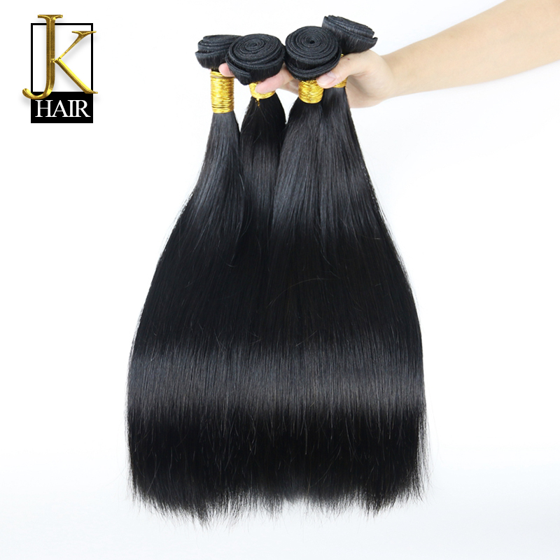 JK Cambodian Virgin Hair Straight 4PCS 6A Unprocessed Virgin Hair 100 Human Hair Weave Bundles Cambodian Straight Virgin Hair