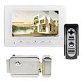 DIYSECUR 7inch Video Intercom Video Door Phone 600TV Line IR Night Vision Outdoor Camera Electric Lock