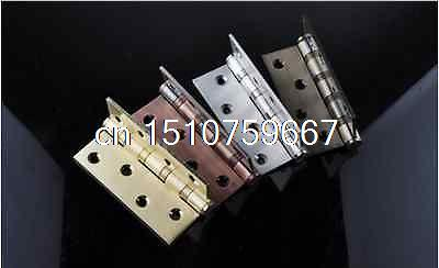 """1 Pair Stainless steel wooden door hinges 4"""" 4 bearings 3.0 thickness 4 Colors(China (Mainland))"""