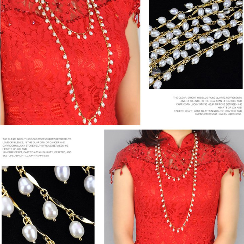 New Arrival Brand Quality Single Long 150 cm Vintage Natural Pearls Women Long Necklace in Gold Color <br><br>Aliexpress