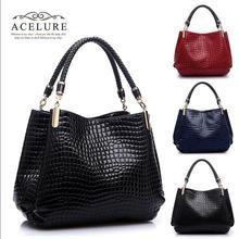 2015 New Fashion Desigual Brand Leather bolsas femininas Women Bags  Shoulder Bag Female Tote Sac Crocodile Bag messenger bags(China (Mainland))