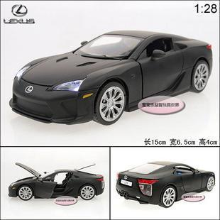 New 1:28 Lexus LFA Alloy Diecast Car Model Toy With Sound&Light Black Toy Collecion B1904(China (Mainland))