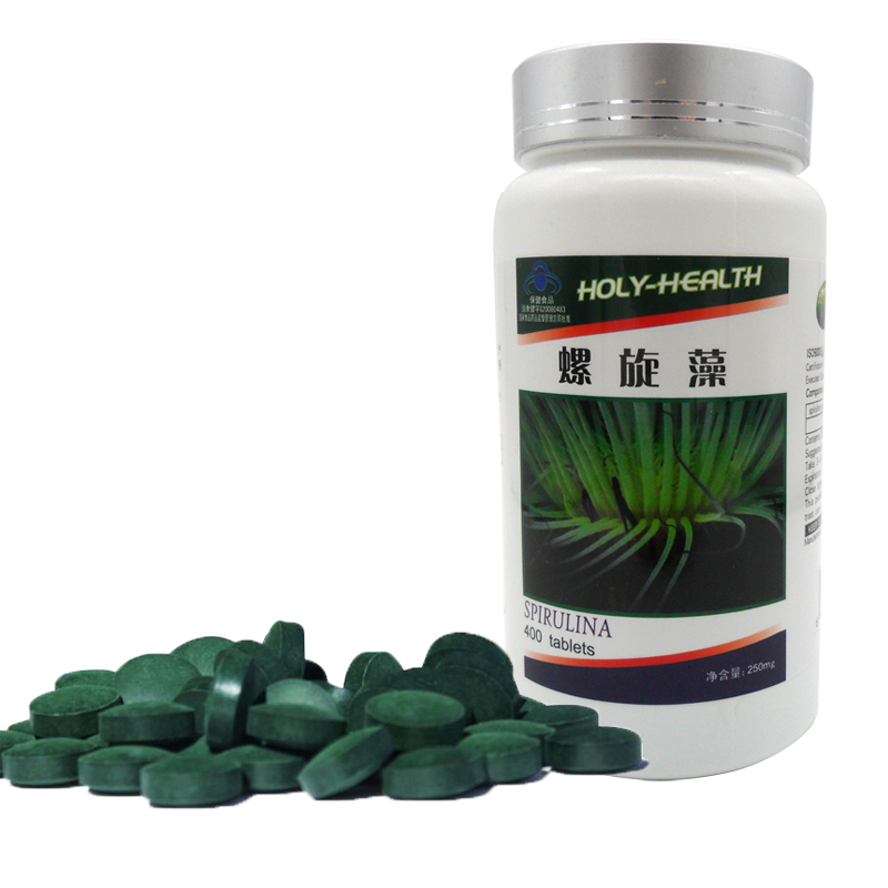 2 bottels/lot 250mg x 400 pills Spirulina Tablet Herb Dietary Supplement Anti-fatigue Keep Body Slim Green health food
