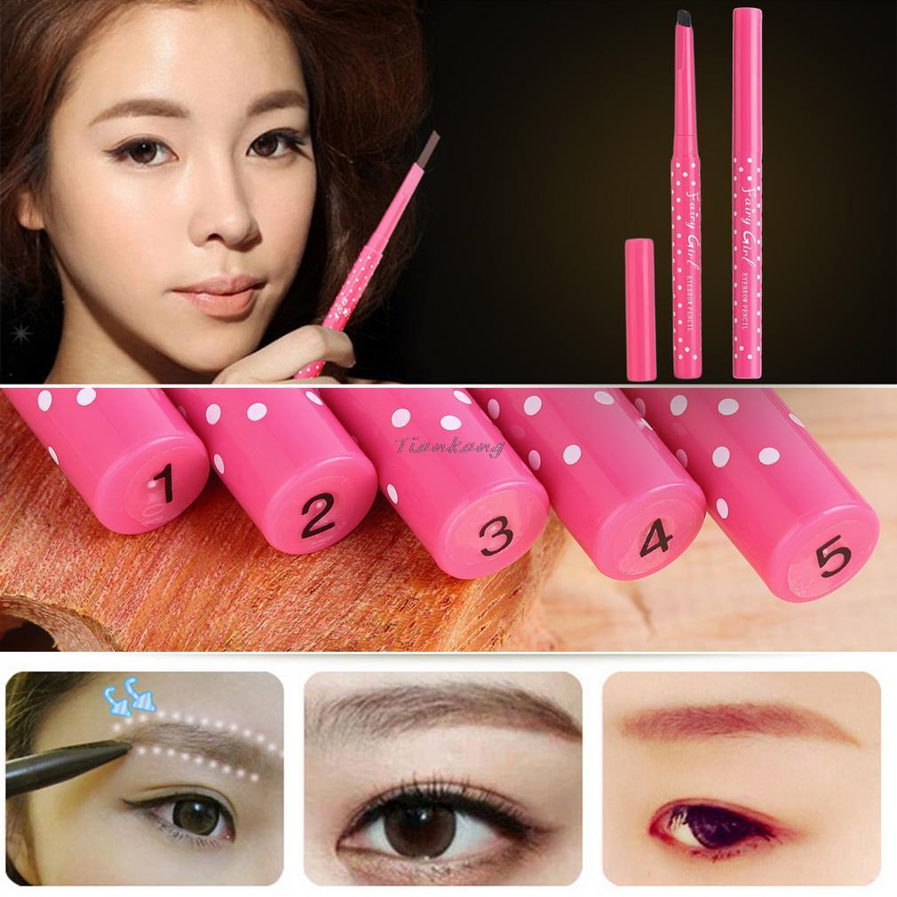1pcs Eyeliner Pencil Waterproof Eyebrow Pen Eye Liner Cosmetics Eyes Makeup Beauty 5 colors(China (Mainland))