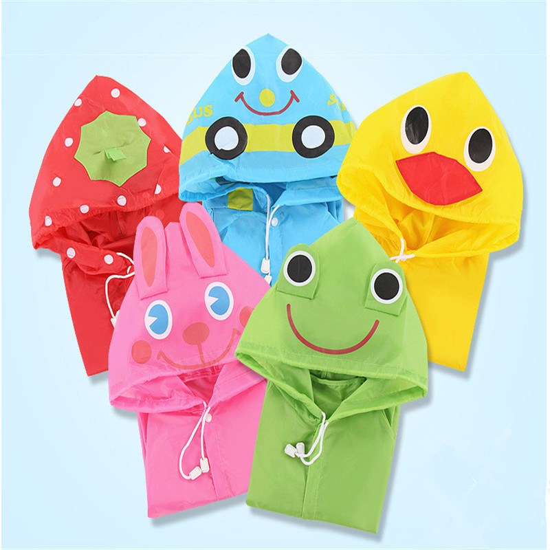 Animal Rain Coat children Raincoat Rainwear Rainsuit Kids Waterproof Raincoat Children's cartoon poncho(China (Mainland))