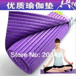 yoga mats, fitness mats PVC material antibiosis Non-slip pad 6mm exercise mats purple  wholesale retail