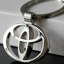 2016 llaveros Car Styling car-covers 3D Metal Key Ring Stainless Steel Keychain Good Quality Key Organizer For Toyota Wholesale