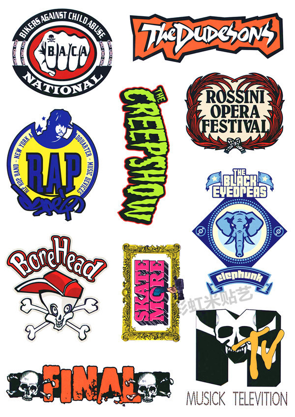 Rock graffiti laptop stickers suitcase card dead fly one boom box stick a suitcase stickers PVC membrane(China (Mainland))