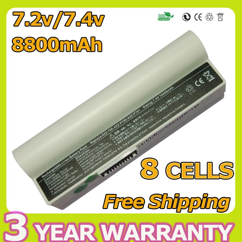New Laptop Battery For Asus 90-OA001B1100 A22-700 A22-P701 A23-P701 P22-900 Eee PC 2G Surf 4G 4G 700 701 8G 900 8C 8800mAh(China (Mainland))