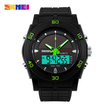 Skmei Waterproof Solar Sports Watches Outdoor Military Watch Solar Power LED Digital Quartz Watch Dual Time Travel Kits 0981(China (Mainland))