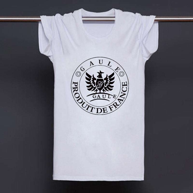 Fashion Gaule France Red Wine T-shirts Men Cool Eagle Print Cotton T Shirts Fashion Short-Sleeve Casual O Neck Tshirts Camisetas(China (Mainland))